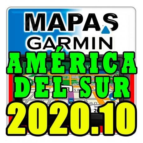Sudamérica / América Del Sur - Mapa 3d 2020 Gps Garmin Nuvi
